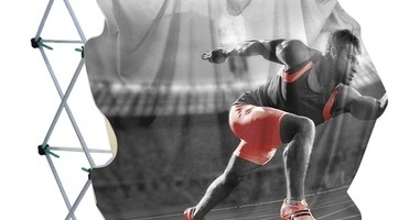 Image d'actualité Display Stretch 240: élastique, 100% défroissable, transparence minime