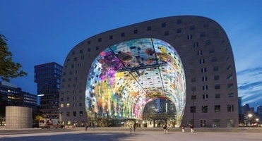 News image The printing of the aluminium panels of Markthal Rotterdam